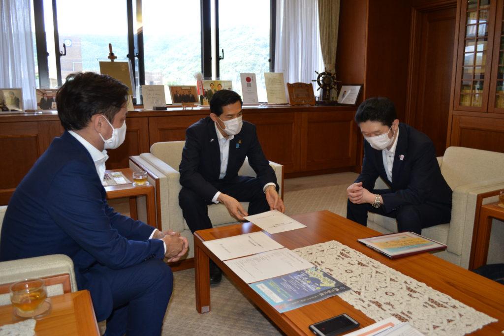 松崎市長様と面談